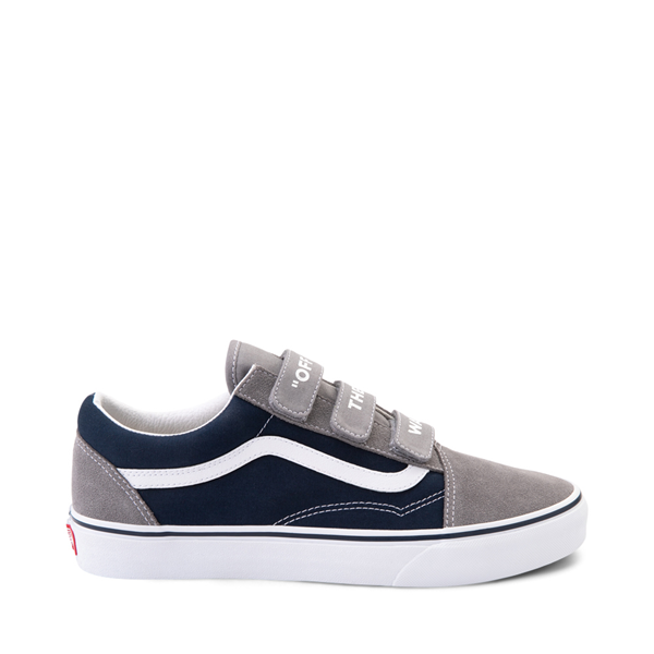 Main view of Vans Old Skool V Off The Wall Skate Shoe - Frost Gray / Dress Blues