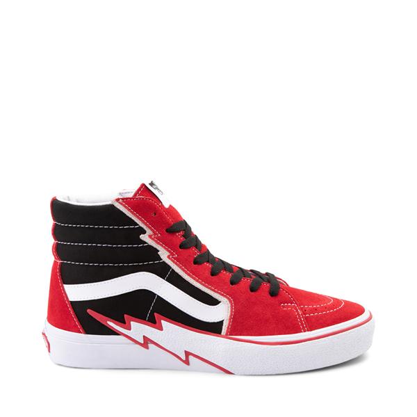 Main view of Vans Sk8 Hi Bolt Skate Shoe - Racing Red / Black