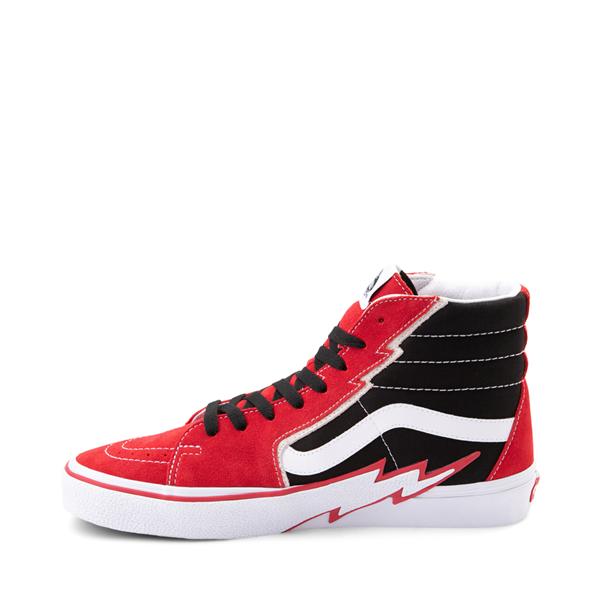 alternate view Vans Sk8 Hi Bolt Skate Shoe - Racing Red / BlackALT1