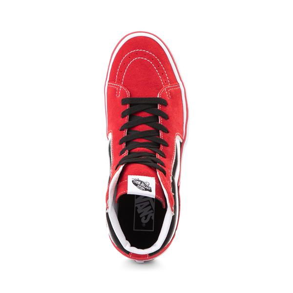alternate view Vans Sk8 Hi Bolt Skate Shoe - Racing Red / BlackALT2