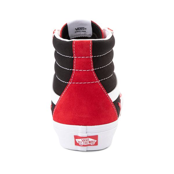 alternate view Vans Sk8 Hi Bolt Skate Shoe - Racing Red / BlackALT4