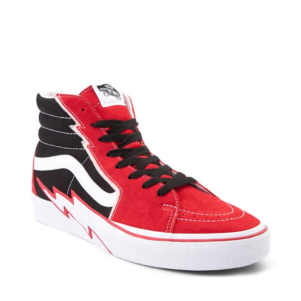 alternate view Vans Sk8 Hi Bolt Skate Shoe - Racing Red / BlackALT5