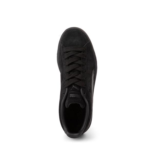 alternate view Puma Suede Athletic Shoe - Big Kid - Black / MonochromeALT2