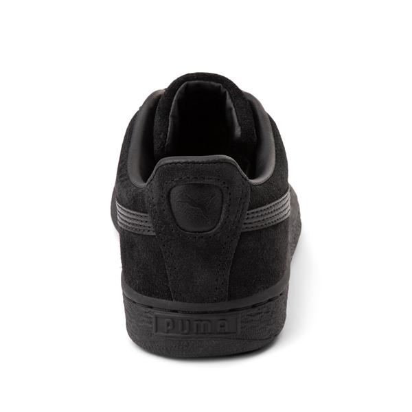 alternate view Puma Suede Athletic Shoe - Big Kid - Black / MonochromeALT4
