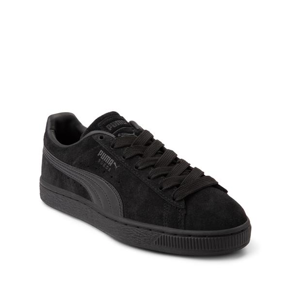 alternate view Puma Suede Athletic Shoe - Big Kid - Black / MonochromeALT5