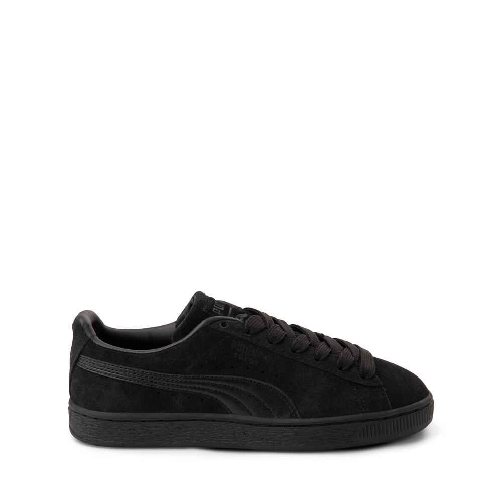 Puma Suede Athletic Shoe - Big Kid - Black / Monochrome