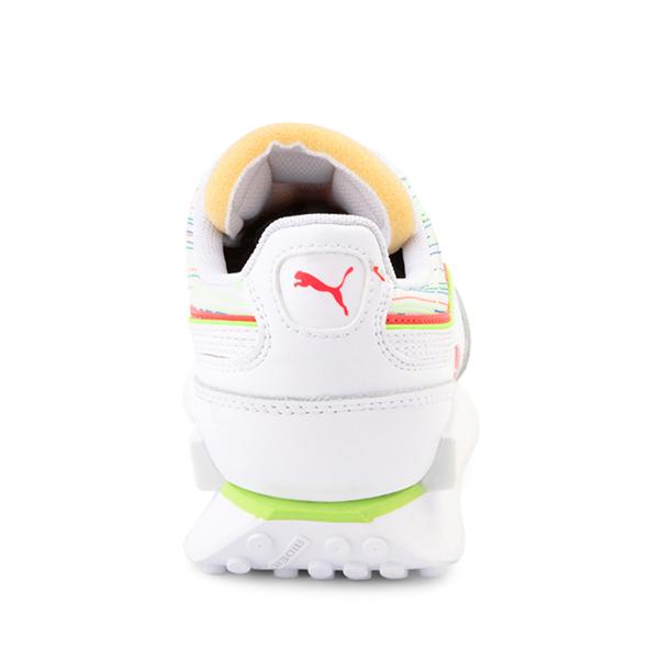 alternate view Puma Future Rider Double Athletic Shoe - Big Kid - Spectra White / SunblazeALT4