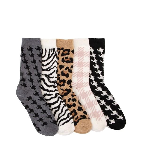 Womens Butter Crew Socks 5 Pack - Multicolor