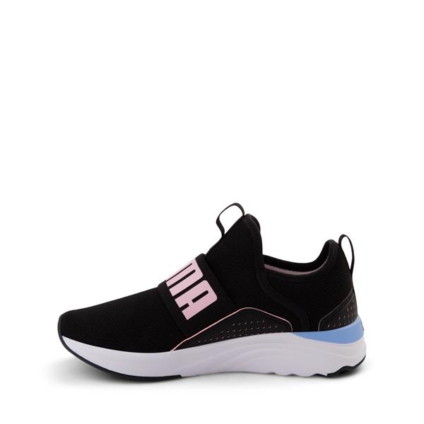 alternate view Puma SoftRide Sophia Slip On Athletic Shoe - Big Kid - Black / Pastel MulticolorALT1
