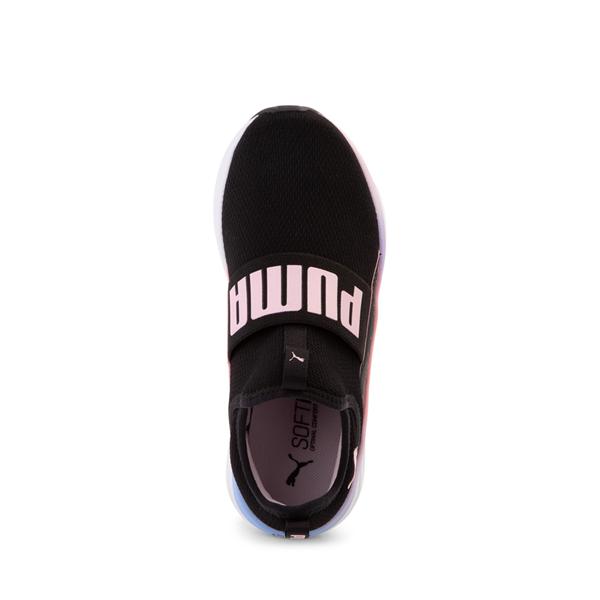 alternate view Puma SoftRide Sophia Slip On Athletic Shoe - Big Kid - Black / Pastel MulticolorALT2