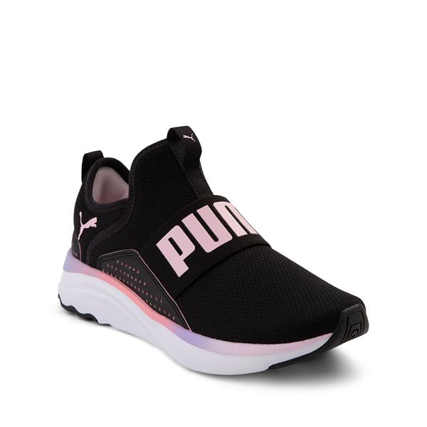 alternate view Puma SoftRide Sophia Slip On Athletic Shoe - Big Kid - Black / Pastel MulticolorALT5