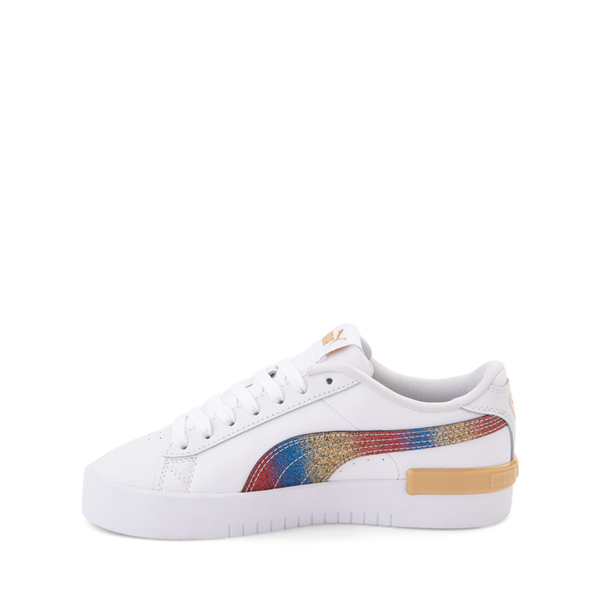 alternate view Puma Jada Athletic Shoe - Big Kid - Olympic White / RainbowALT1