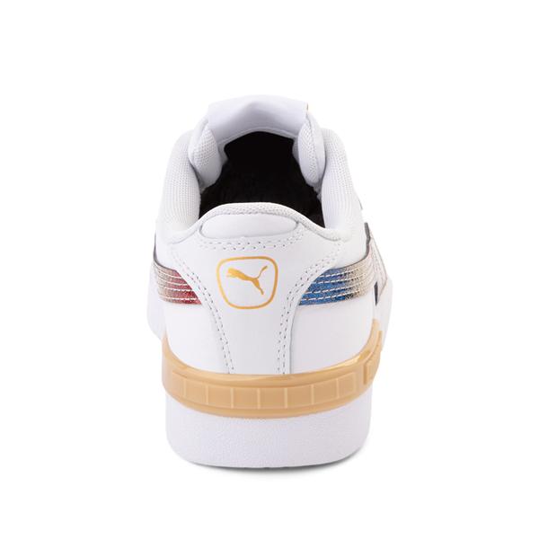 alternate view Puma Jada Athletic Shoe - Big Kid - Olympic White / RainbowALT4