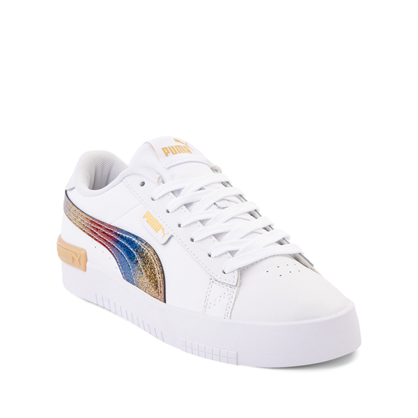 alternate view Puma Jada Athletic Shoe - Big Kid - Olympic White / RainbowALT5