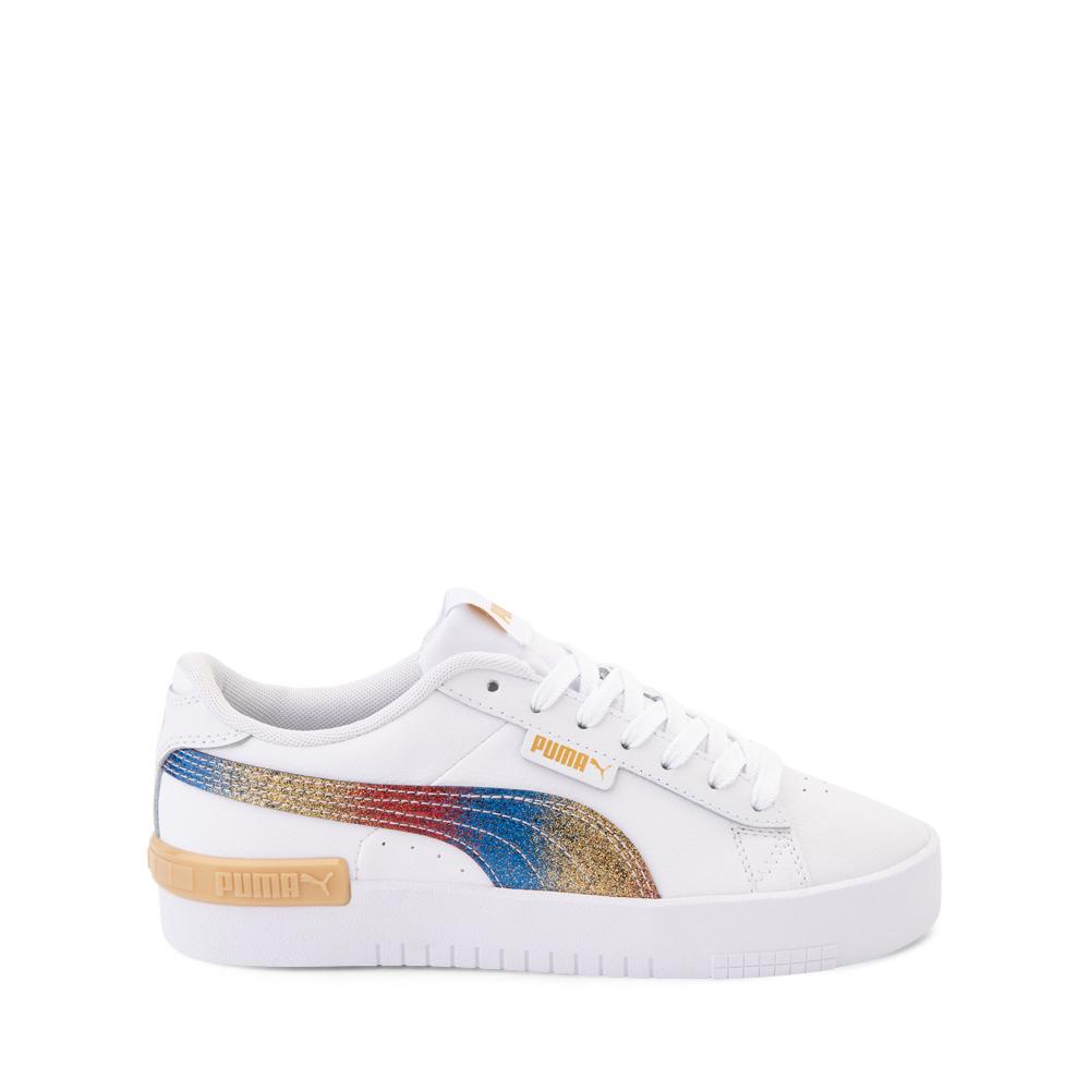 Puma Jada Athletic Shoe - Big Kid - Olympic White / Rainbow