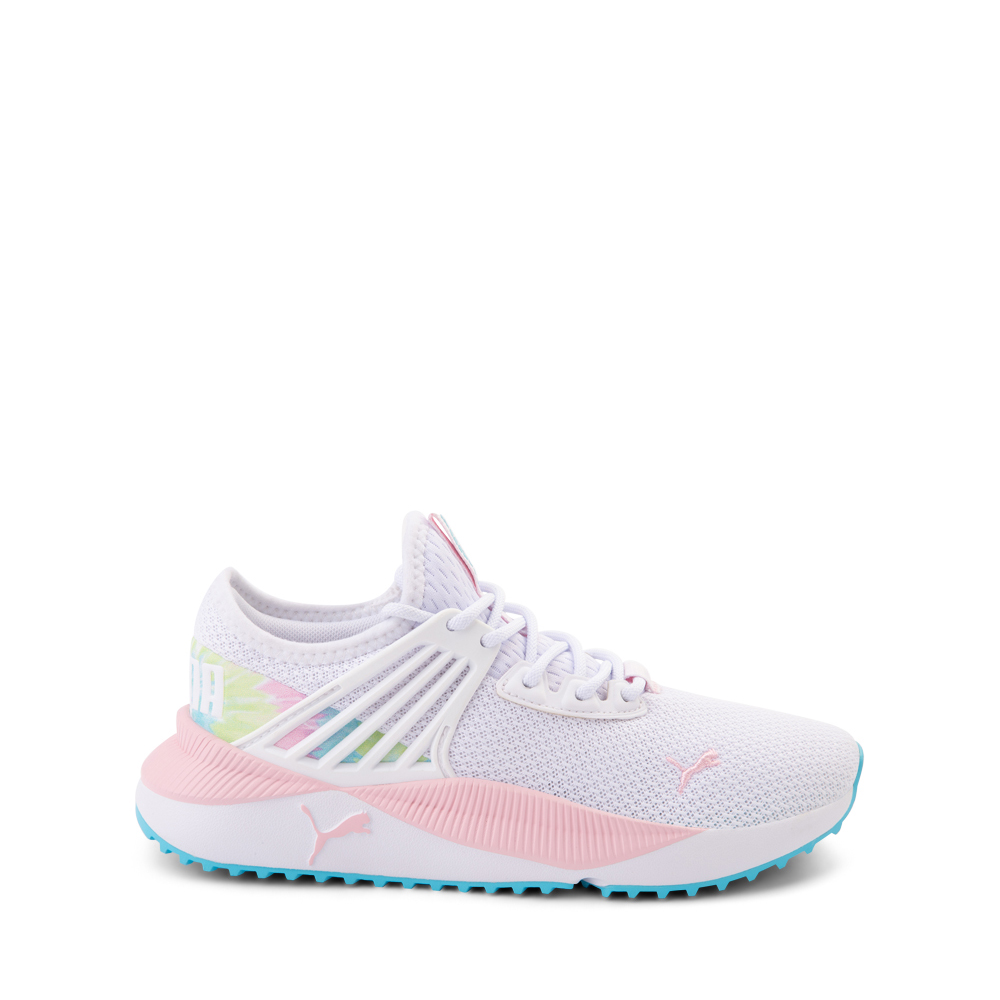 Puma Pacer Future Tie Dye Athletic Shoe - Big Kid - White