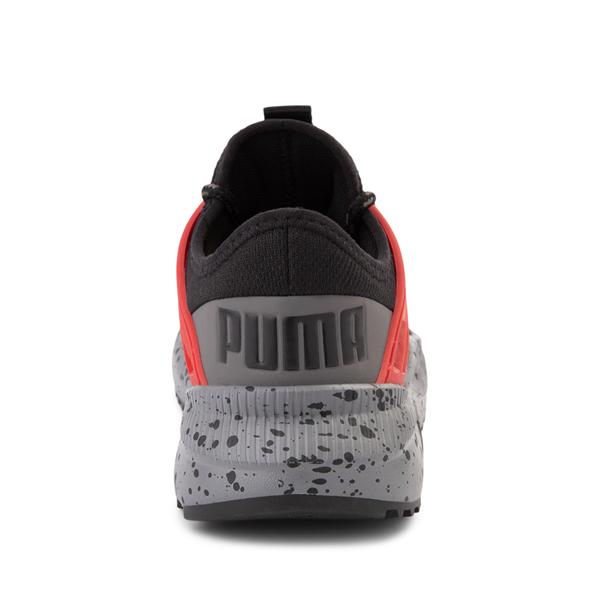 alternate view Puma Pacer Future Trek Athletic Shoe - Little Kid / Big Kid - Black / High Risk RedALT4