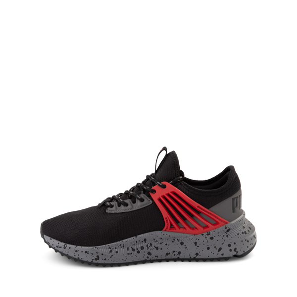 alternate view Puma Pacer Future Trek Athletic Shoe - Big Kid - Black / High Risk RedALT1