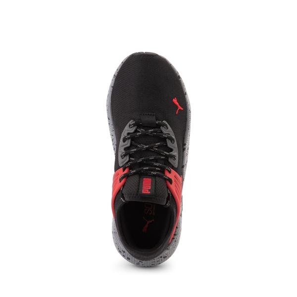 alternate view Puma Pacer Future Trek Athletic Shoe - Big Kid - Black / High Risk RedALT2