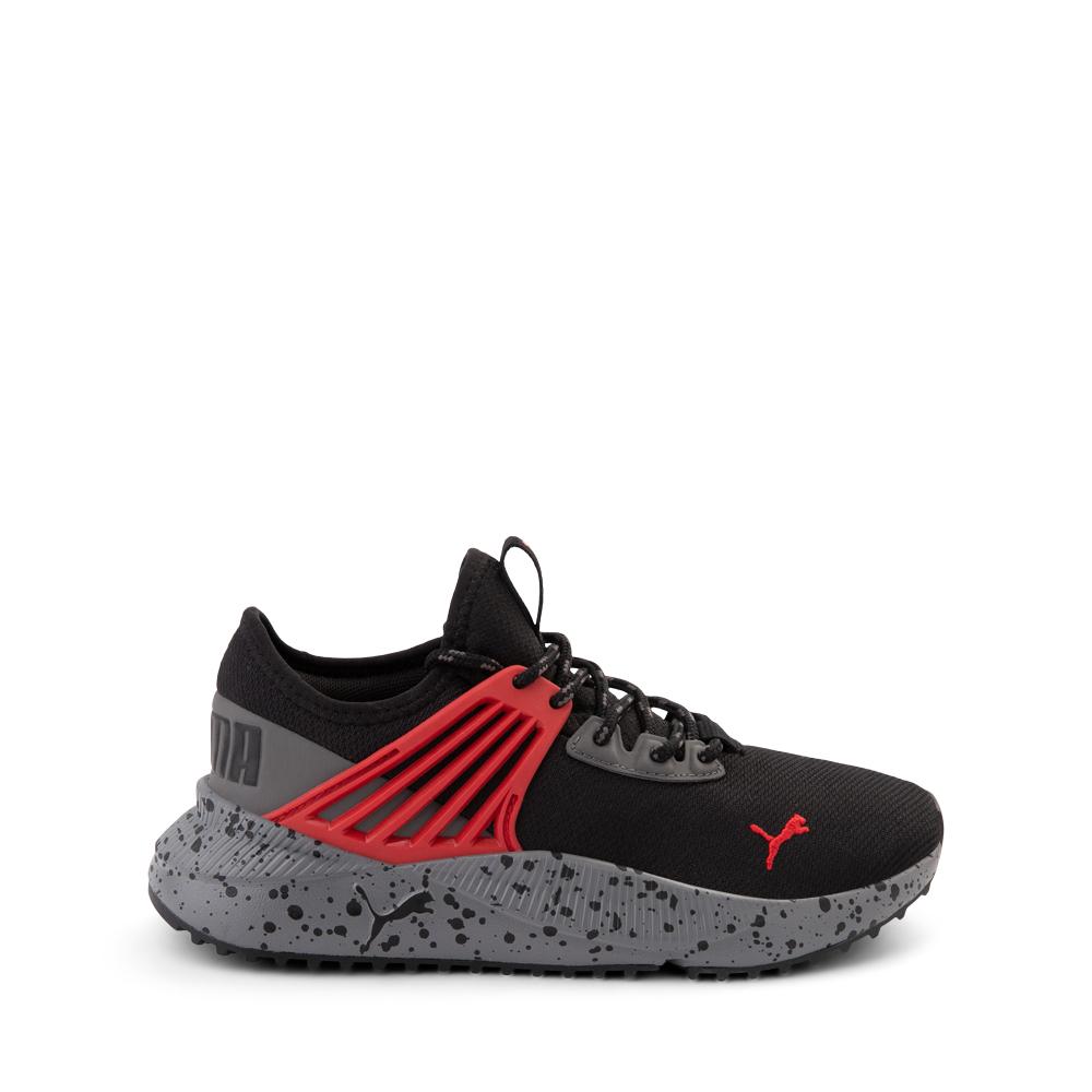 Puma Pacer Future Trek Athletic Shoe - Big Kid - Black / High Risk Red