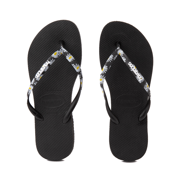 Main view of Womens Havaianas Slim Tropical Sandal - Black