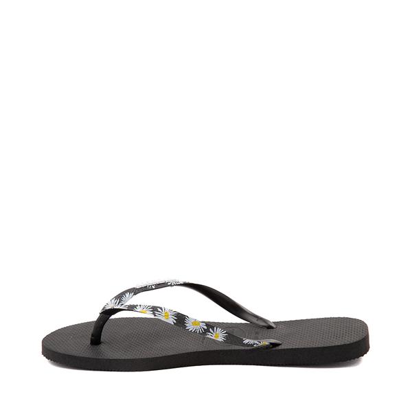 alternate view Womens Havaianas Slim Tropical Sandal - BlackALT1B