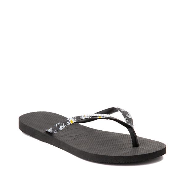 alternate view Womens Havaianas Slim Tropical Sandal - BlackALT5