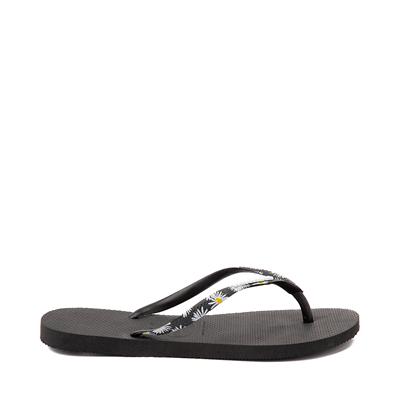 Alternate view of Womens Havaianas Slim Tropical Sandal - Black