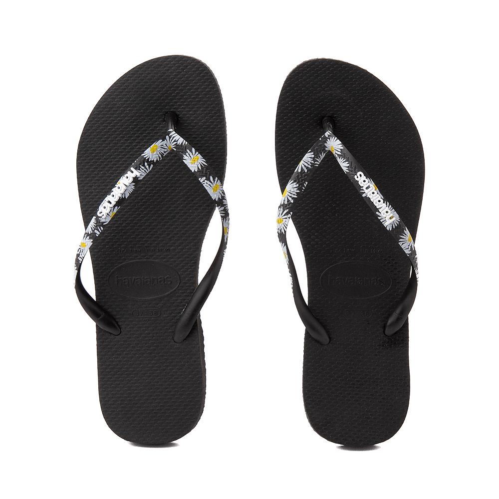 Womens Havaianas Slim Tropical Sandal - Black