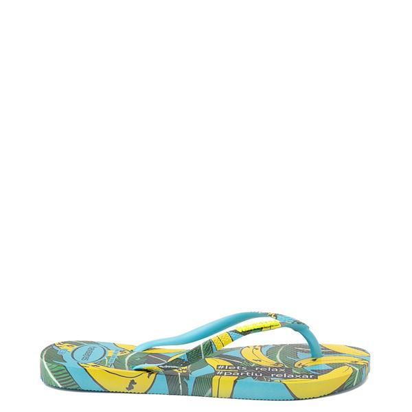 alternate view Womens Havaianas Slim Summer Sandal - Blue BananaALT1