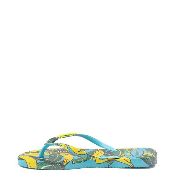 alternate view Womens Havaianas Slim Summer Sandal - Blue BananaALT1B