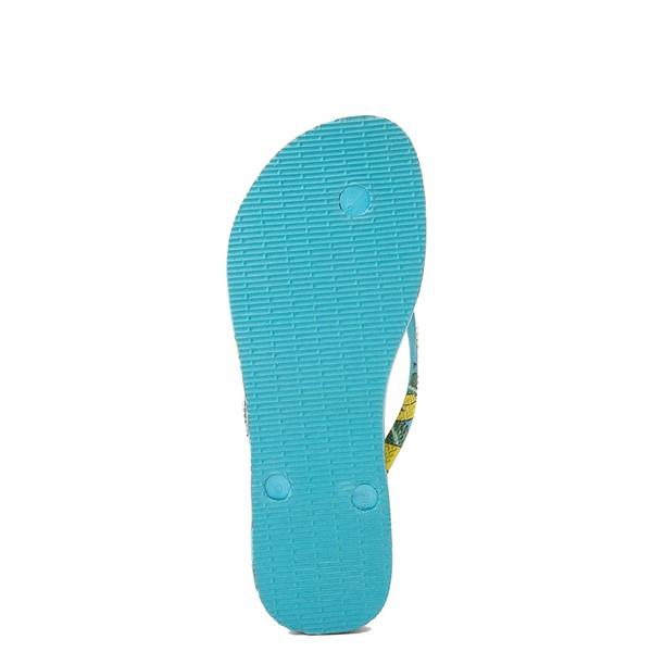 alternate view Womens Havaianas Slim Summer Sandal - Blue BananaALT3