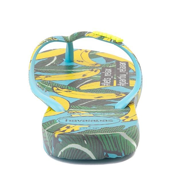 alternate view Womens Havaianas Slim Summer Sandal - Blue BananaALT4