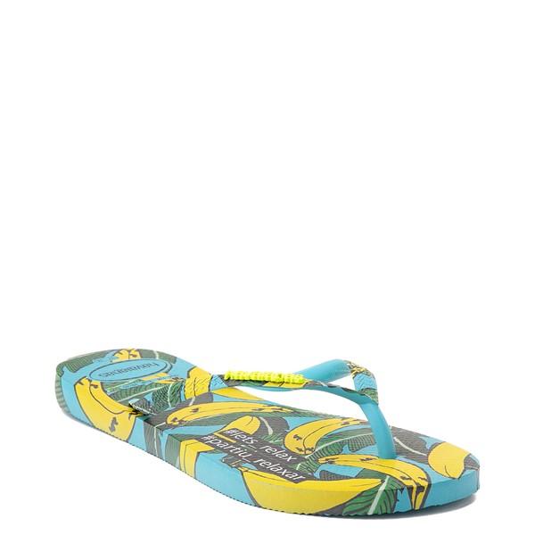 alternate view Womens Havaianas Slim Summer Sandal - Blue BananaALT5
