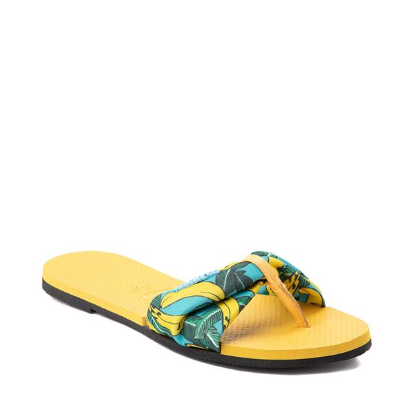 alternate view Womens Havaianas You St. Tropez Sandal - Gold YellowALT5