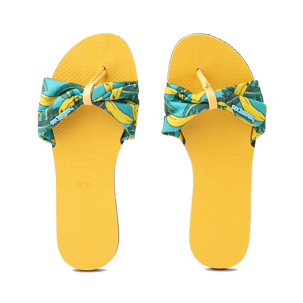 Womens Havaianas You St. Tropez Sandal - Gold Yellow