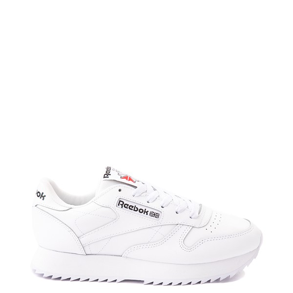 Main view of Womens Reebok Classic Leather Ripple Athletic Shoe - White Monochrome