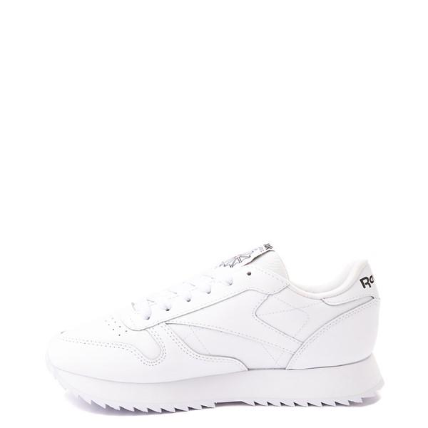 alternate view Womens Reebok Classic Leather Ripple Athletic Shoe - White MonochromeALT1