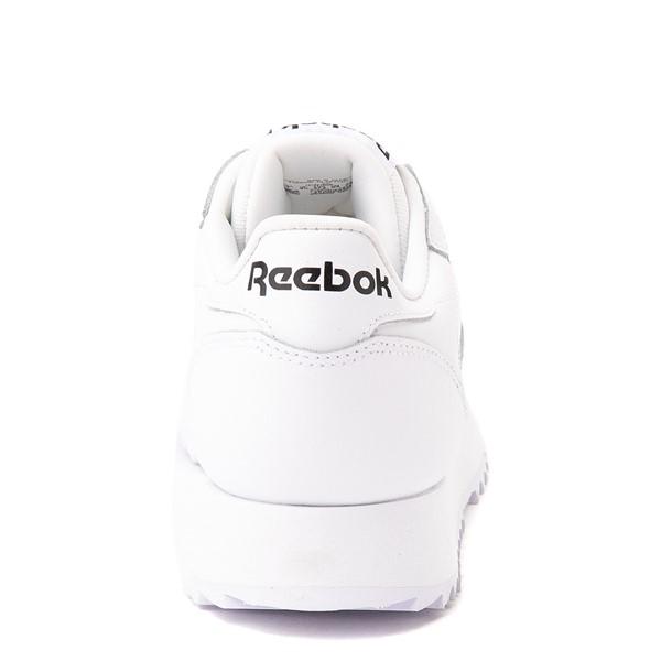 alternate view Womens Reebok Classic Leather Ripple Athletic Shoe - White MonochromeALT4