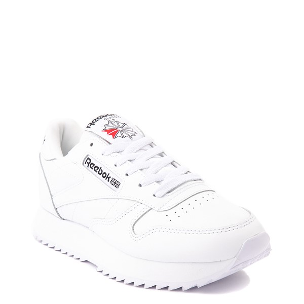 alternate view Womens Reebok Classic Leather Ripple Athletic Shoe - White MonochromeALT5