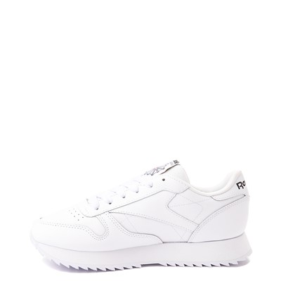 Alternate view of Womens Reebok Classic Leather Ripple Athletic Shoe - White Monochrome