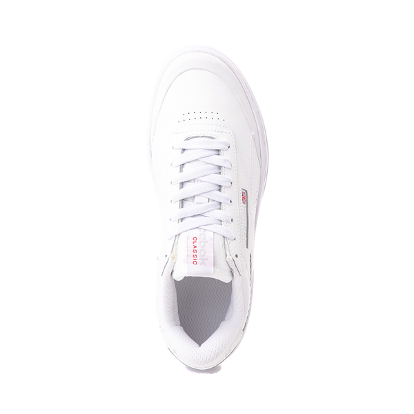 alternate view Womens Reebok Club C Double Geo Athletic Shoe - White MonochromeALT2