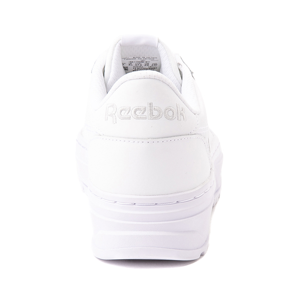 alternate view Womens Reebok Club C Double Geo Athletic Shoe - White MonochromeALT4