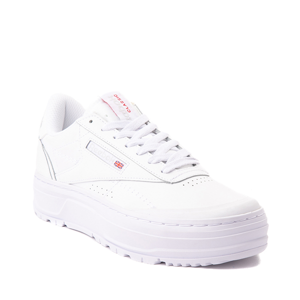 alternate view Womens Reebok Club C Double Geo Athletic Shoe - White MonochromeALT5