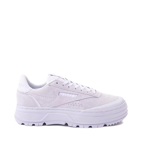 Womens Reebok Club C Double Geo Athletic Shoe - Lilac Monochrome