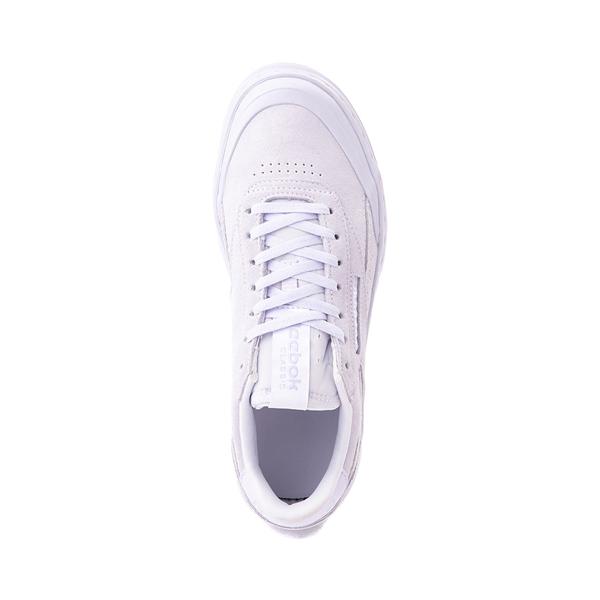 alternate view Womens Reebok Club C Double Geo Athletic Shoe - Lilac MonochromeALT2