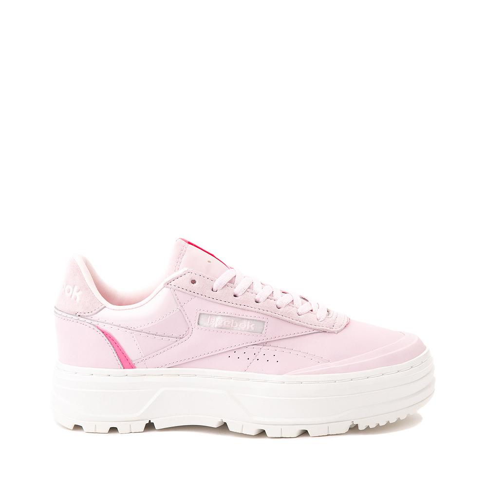 Womens Reebok Club C Double Geo Athletic Shoe - Frost Berry / Chalk
