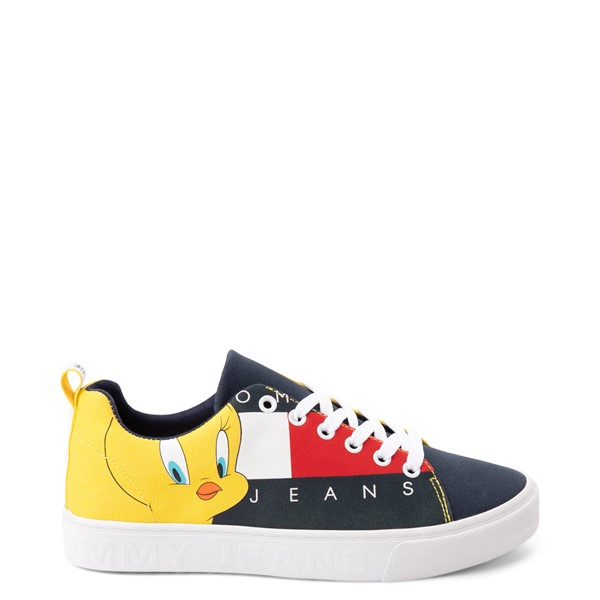 Main view of Womens Tommy Hilfiger Space Jam: A New Legacy x Tommy Jeans Tweety Bird™ Sneaker - Navy