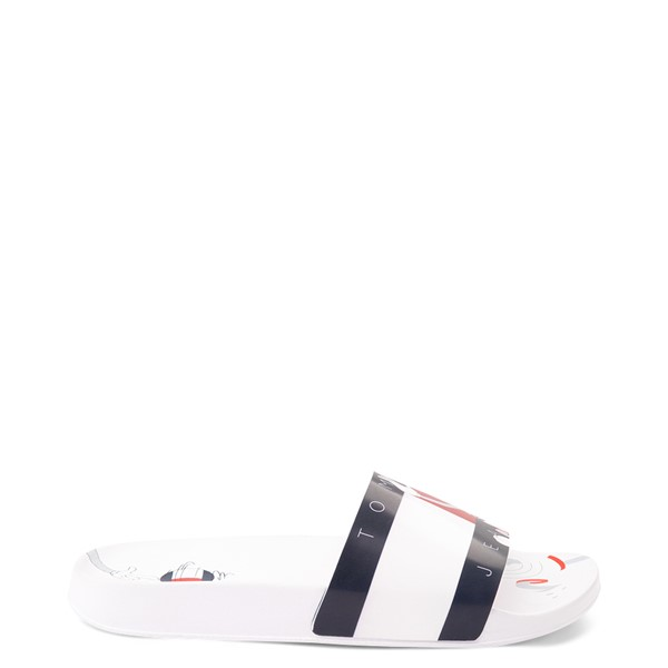 Womens Tommy Hilfiger Space Jam: A New Legacy x Tommy Jeans Bugs Bunny™ Slide Sandal - White