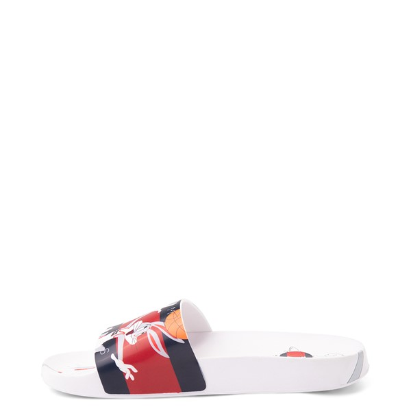 alternate view Womens Tommy Hilfiger Space Jam: A New Legacy x Tommy Jeans Bugs Bunny™ Slide Sandal - WhiteALT1B